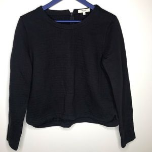 Madewell jacquard quilted long sleeve sweater